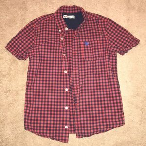 NEW Abercrombie plaid button down